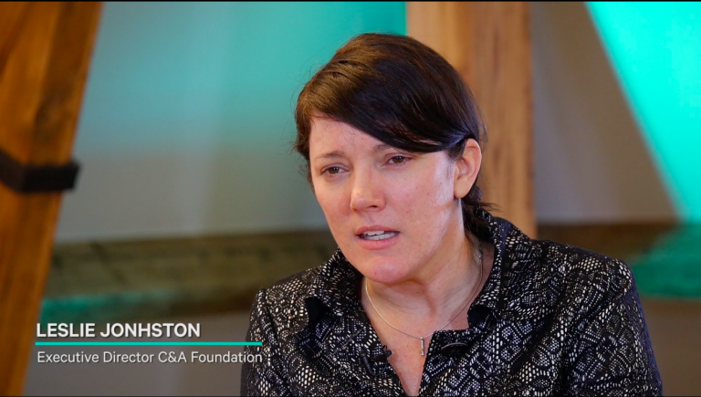 Interview with C&A Foundation's Leslie Johnston.