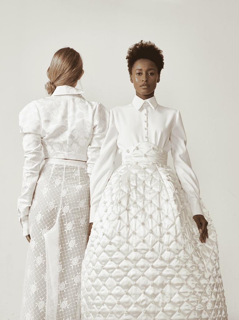 Deze Nederlandse ontwerper en weddingplanner lanceren samen couture collectie van gerecyclede bruidsjurken