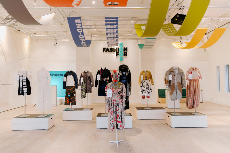 Redress Design Award 2019 exhibit at Fashion for Good Experience